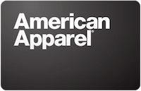 American Apparel gift card