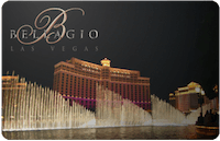 Bellagio Hotel Las Vegas gift card