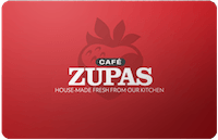 Cafe Zupas gift card