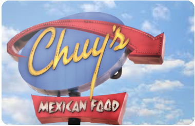 Chuy's Tex mex gift card