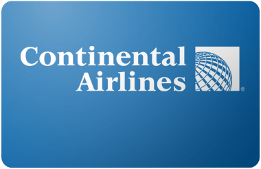 Continental Airlines gift card