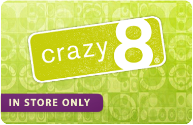 Crazy 8 Merchandise Credit gift card
