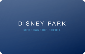 Disney Park Merchandise Credit gift card