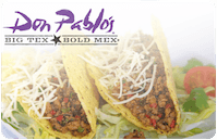 Don Pablos gift card