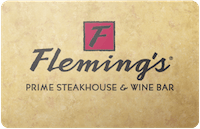 Flemings Steakhouse gift card