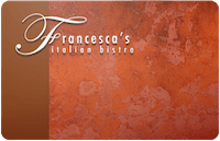 Francesca's Rest. gift card