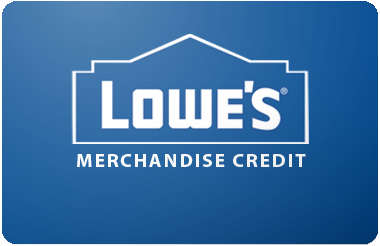 Lowes (In Store Only) gift card