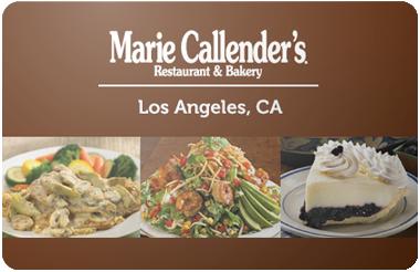 Marie Callenders gift card