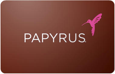 Papyrus gift card