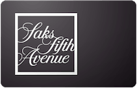 Saks 5th Ave gift card