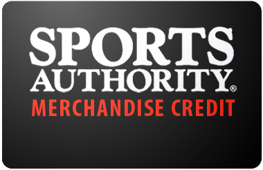 Sports Authoritys Merchandise Credit gift card