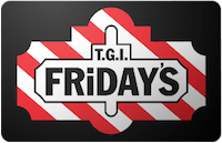 Tgi Friday`s gift card