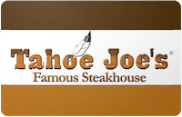 Tahoe Joe's gift card