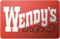 Wendy`s gift card