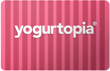 Yogurt Topia gift card