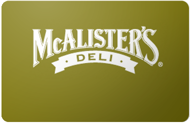 McAlister's Deli gift card