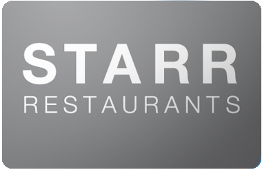 Starr Restaurants gift card