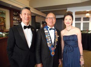 Glenn Yamasaki, Vice Conseiller Gastronomique Fred Wong, and Maître Hôtelier Kyoko Kimura.
