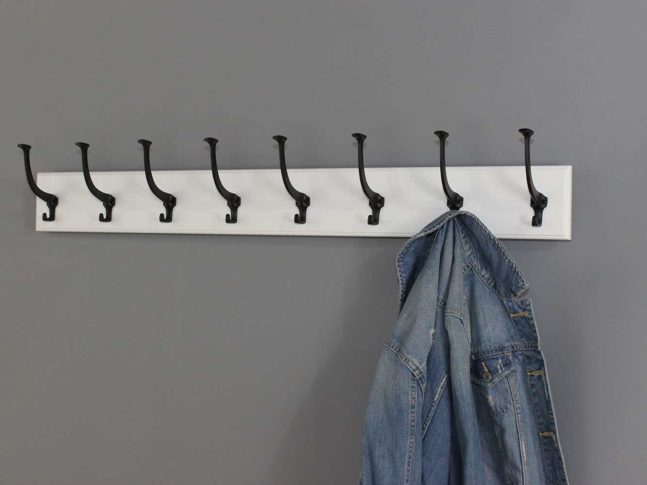 White Coat Racks With Hat Coat Style Hooks With Solid Brass Age Bronze And Satin Nickel Matt Black Or Mission Hooks
