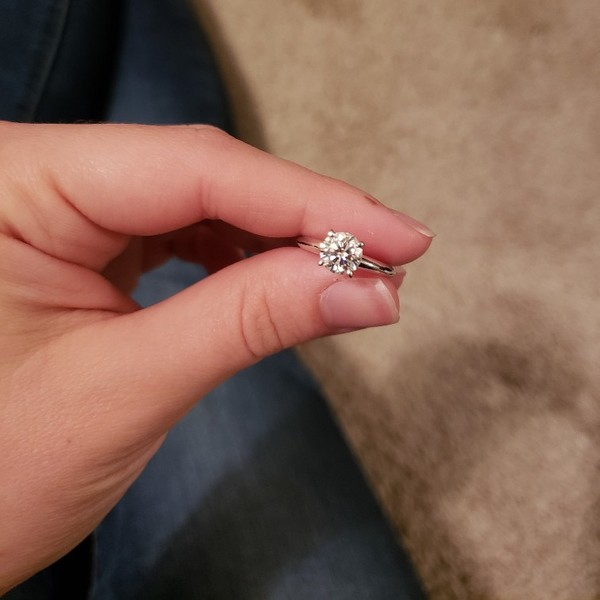 1ct Moissanite Solitaire Engagement Ring   Loupe Troop