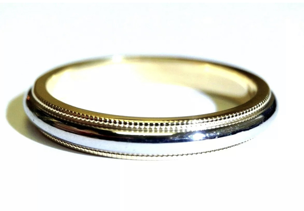 Men S Tiffany Co Platinum And 18k Wedding Band Loupe Troop