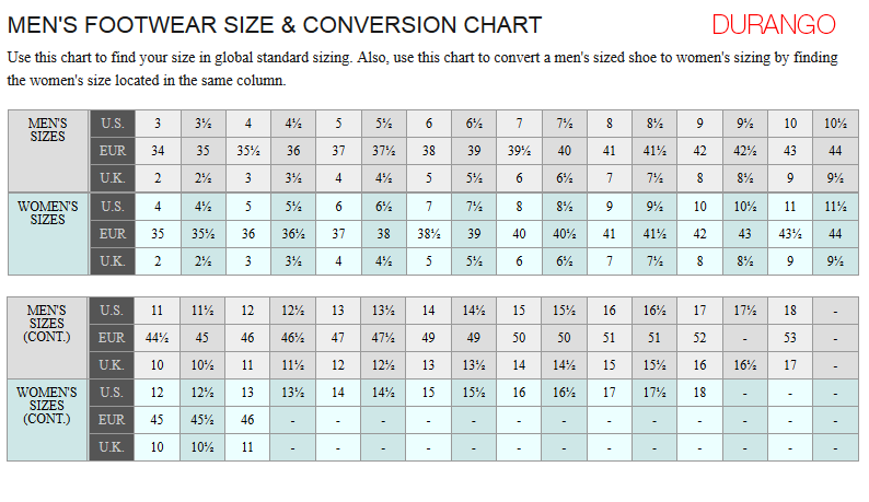 Durango Boot Size Chart Amazon Com Durango Men S 11 Harness Boot