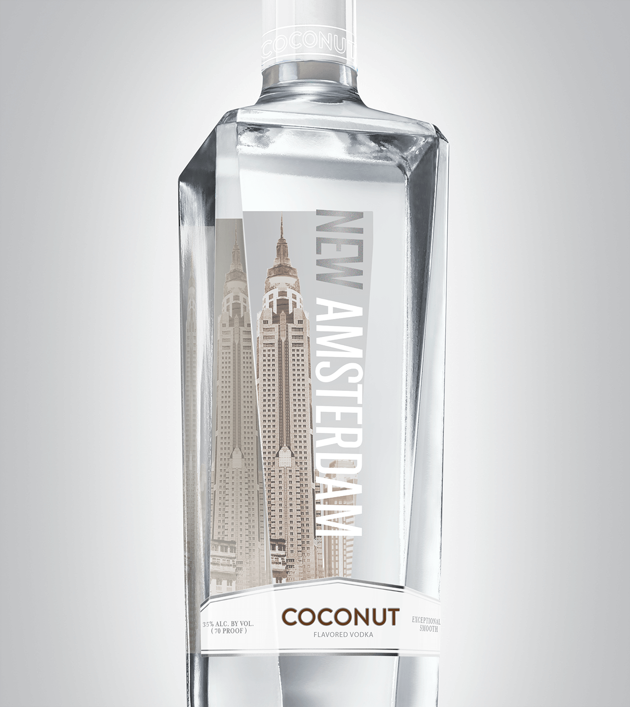 Bottle of New Amsterdam Coconut