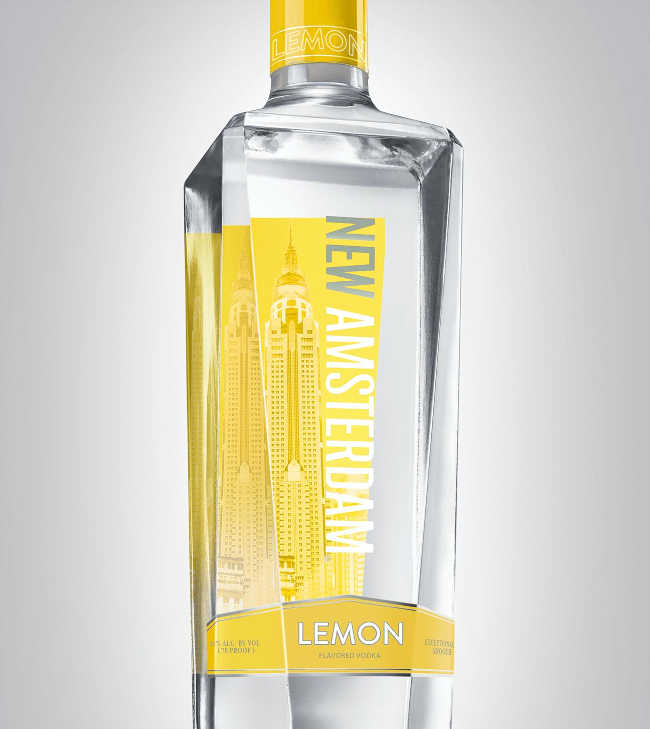 Bottle of New Amsterdam Lemon