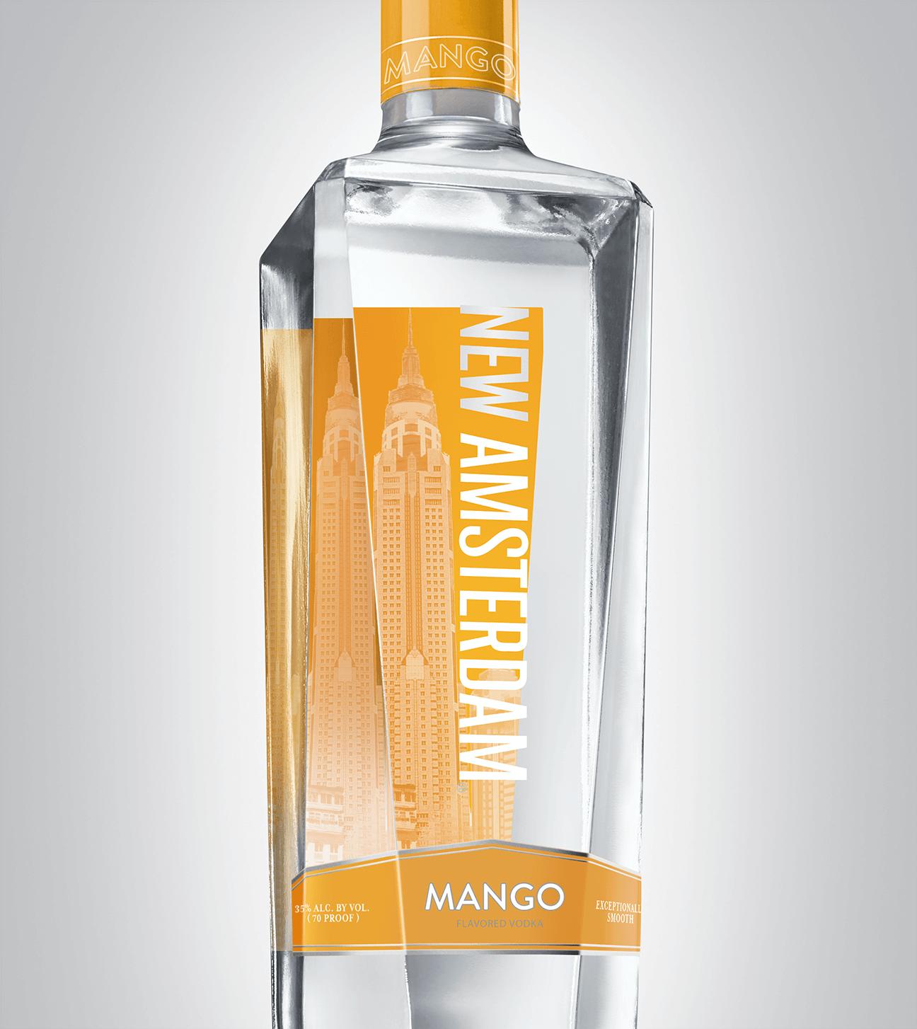 Bottle of New Amsterdam Mango