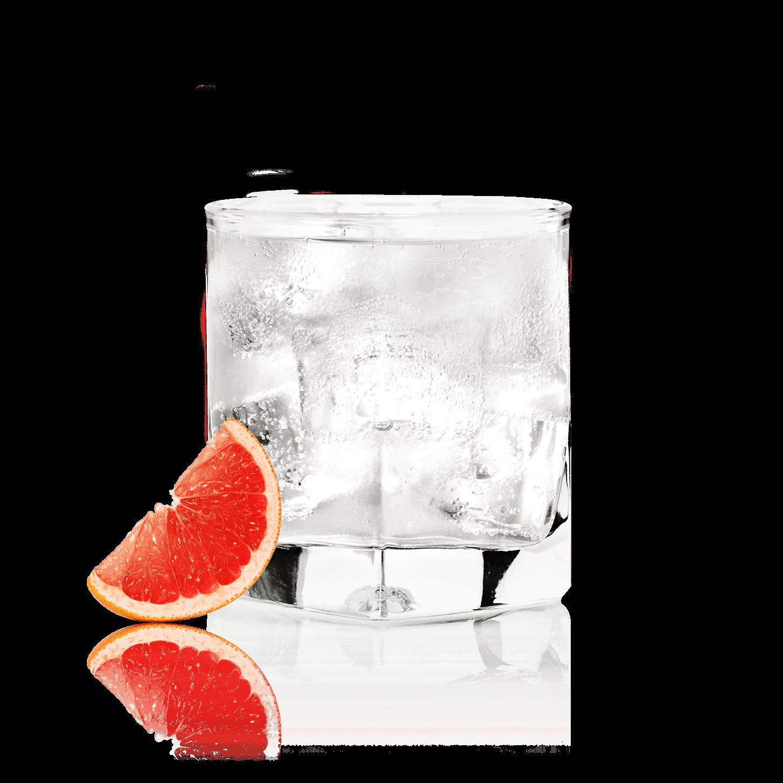 Glass of NEW AMSTERDAM<sub>®</sub> GRAPEFRUIT SODA