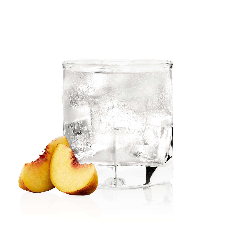 Glass of NEW AMSTERDAM<sub>®</sub> PEACH SODA
