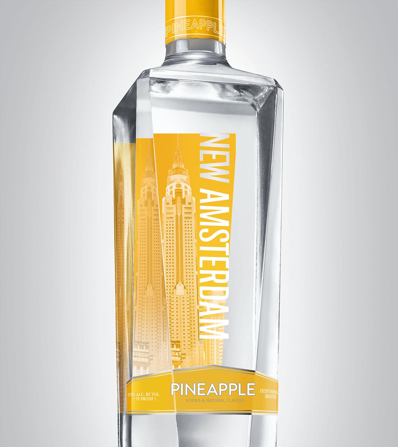 Bottle of New Amsterdam Pineapple