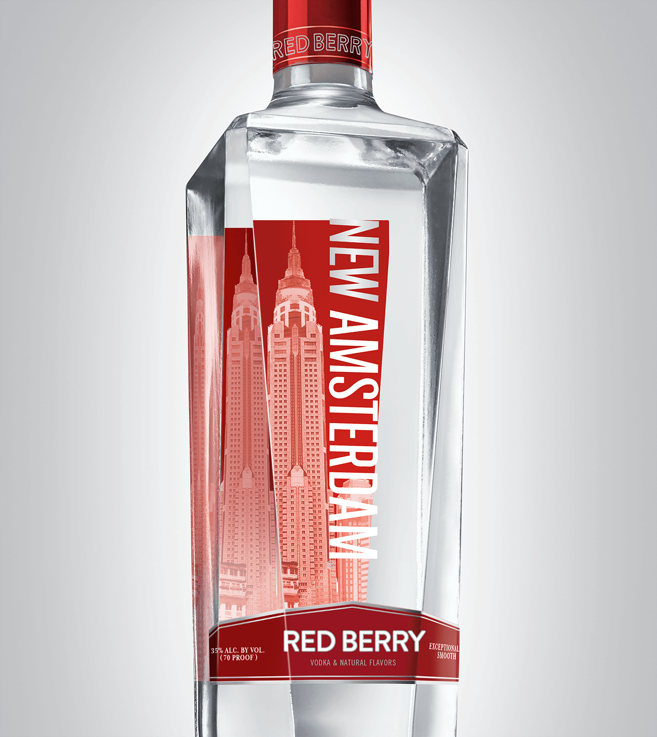 Bottle of New Amsterdam Red Berry