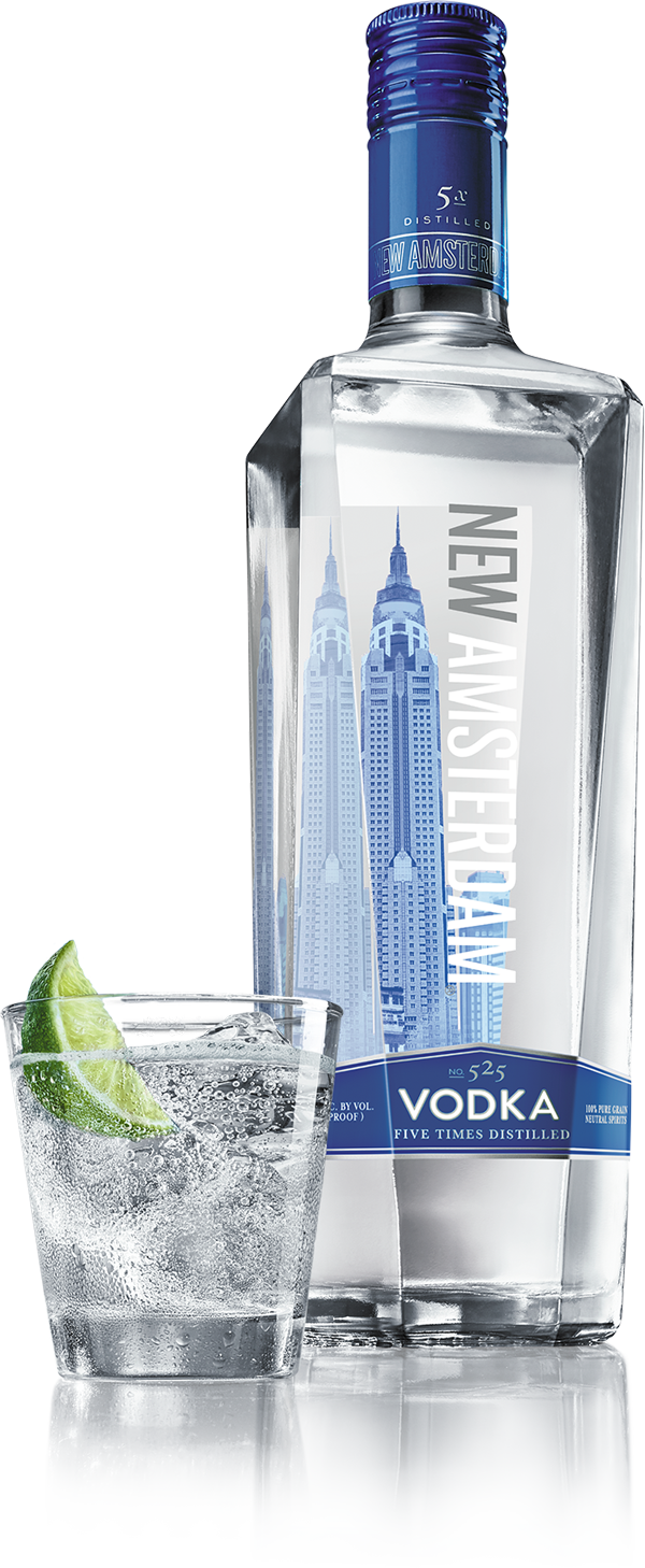 bottle of New Amsterdam Vodka