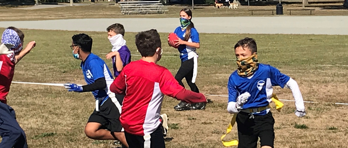 Youth Flag Football Players