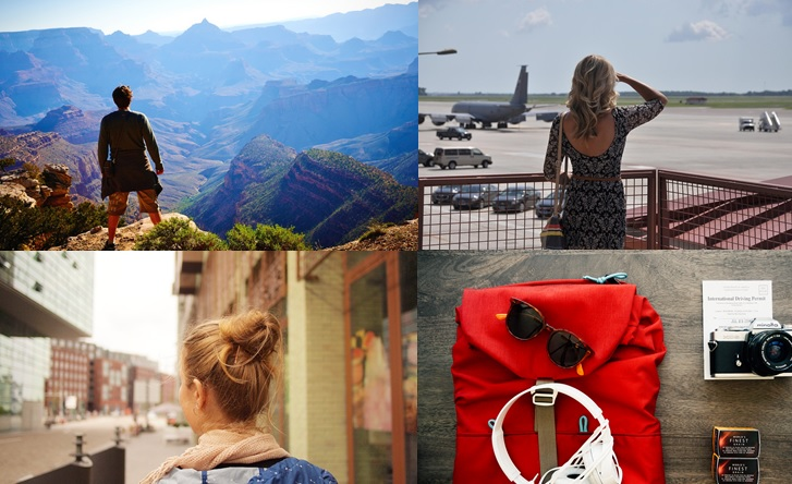 travel more - collage of travelers