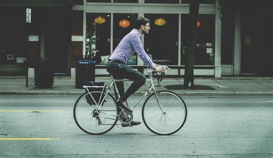 dream job - man on bike