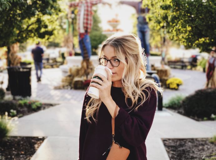 stuck in a rut- woman drinking coffee