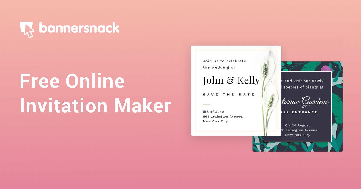 Free Online Invitation Maker Create Custom Invitations