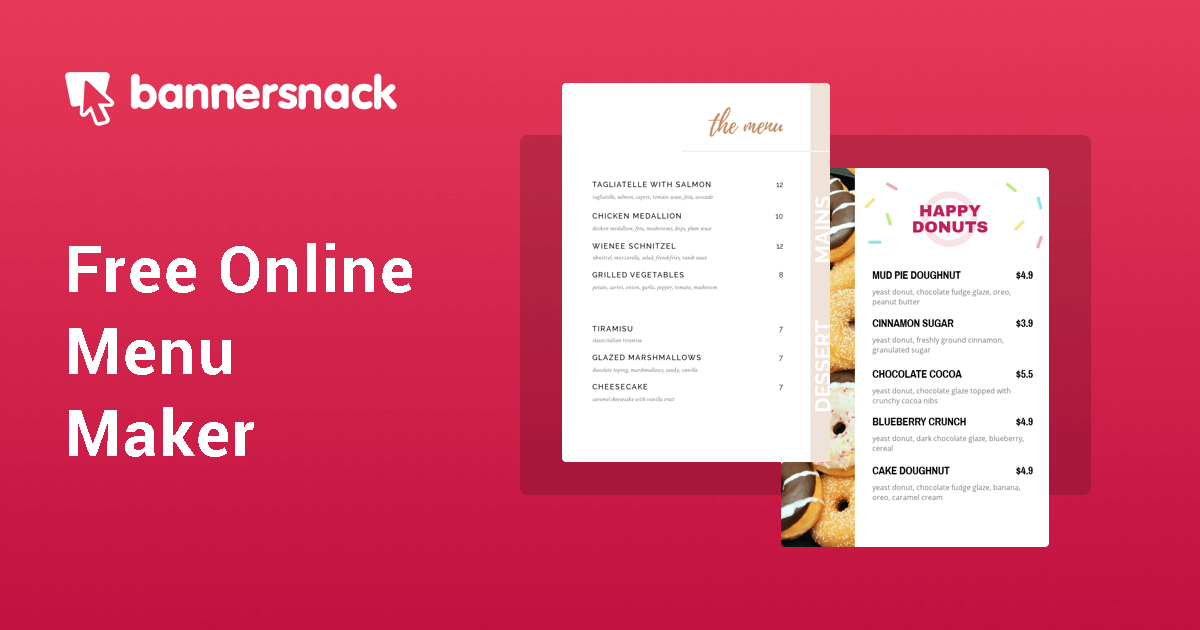 Free Online Menu Maker Create Menu Designs Starting From A Template