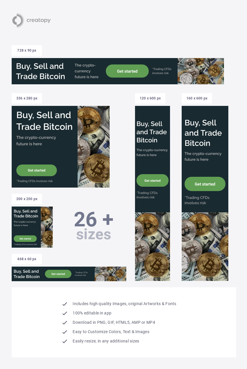 Crypto-Currency Banner Template
