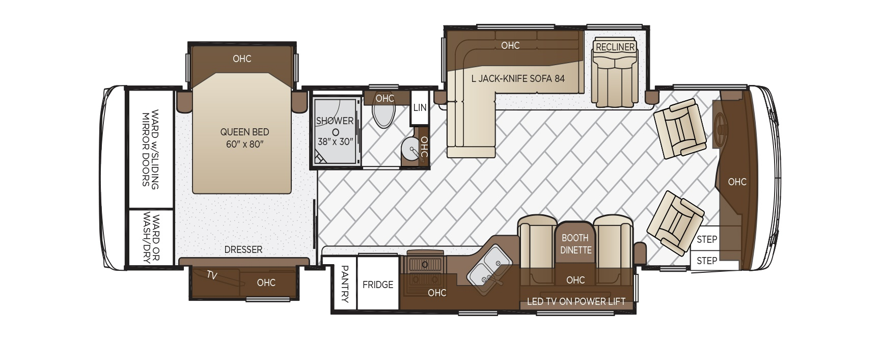 ventana le floor plan options newmar