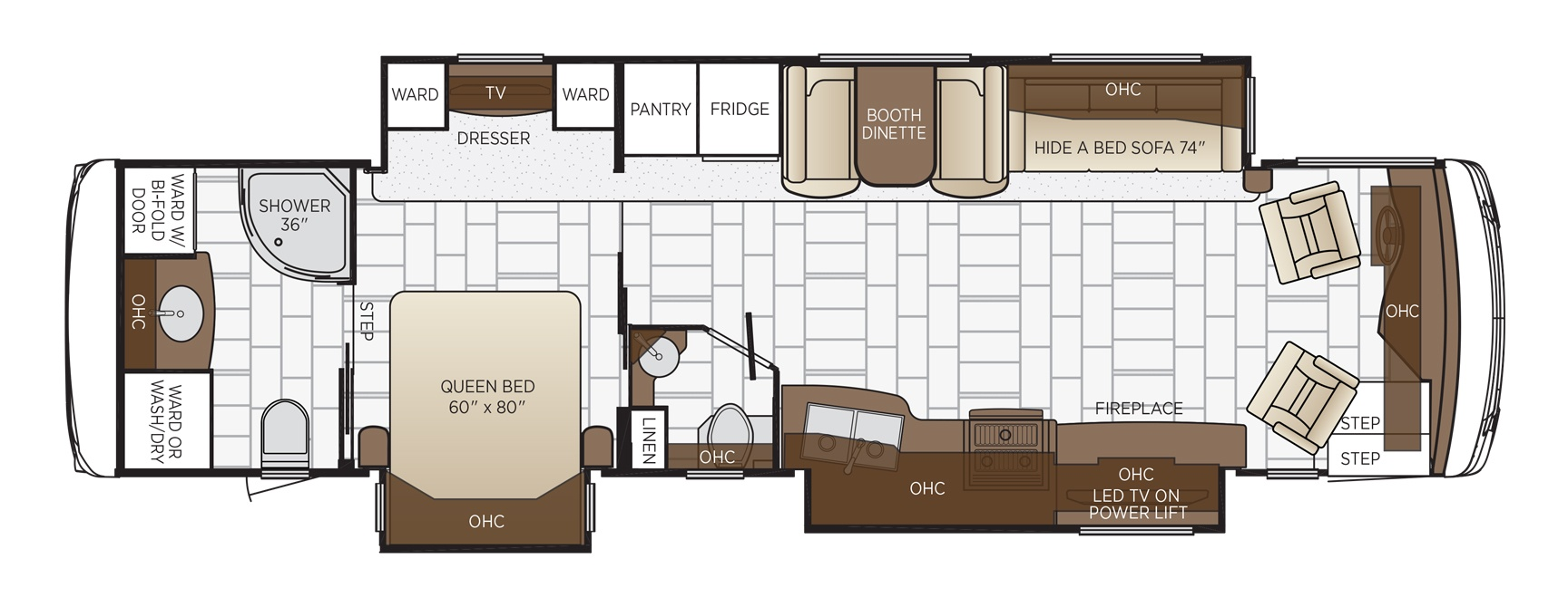 ventana floor plan options newmar