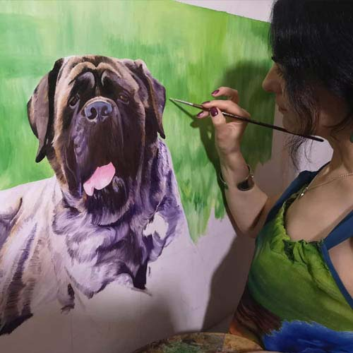 Retratos Personalizados de Mascotas Pintados a Mano Desde Tus Fotos.