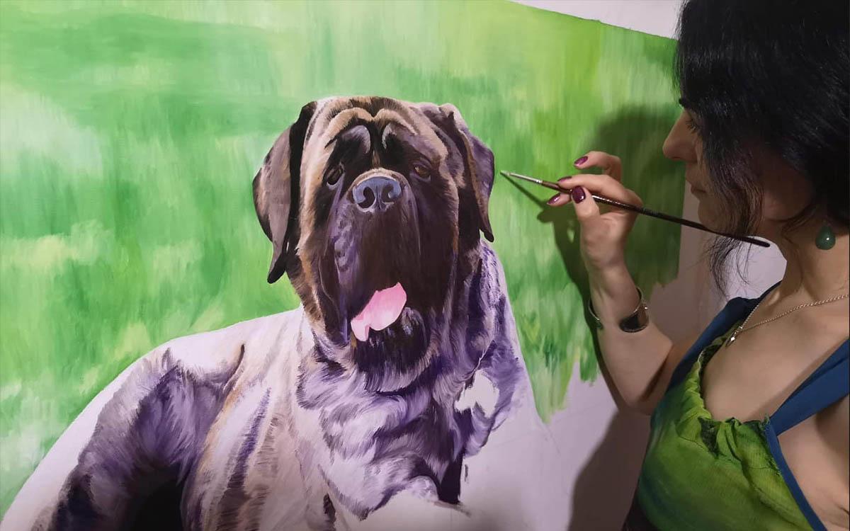 Retratos Personalizados de Mascotas Pintados a Mano Desde Tus Fotos