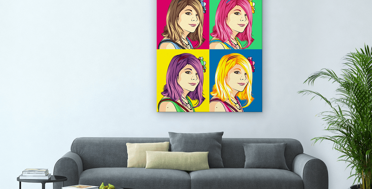 Classic Pop Art on Canvas