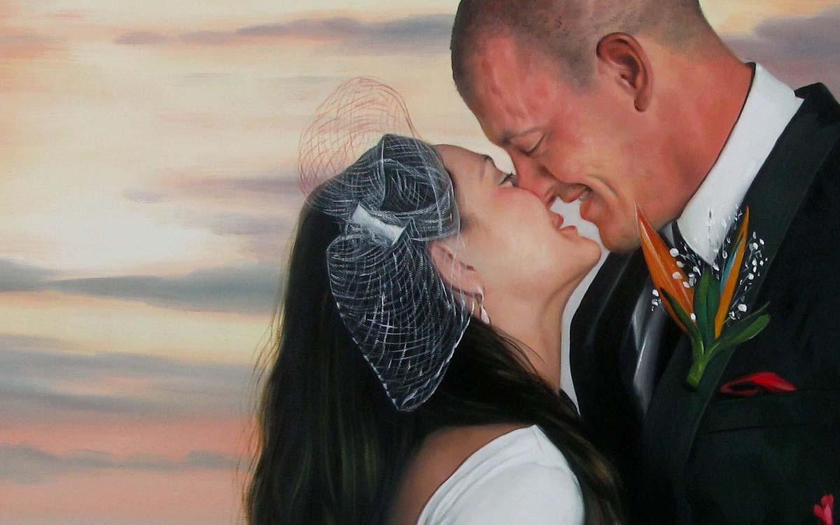 Hochzeitsfoto als Gemälde