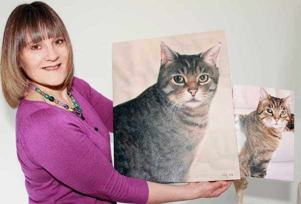 cat portraits on canvas