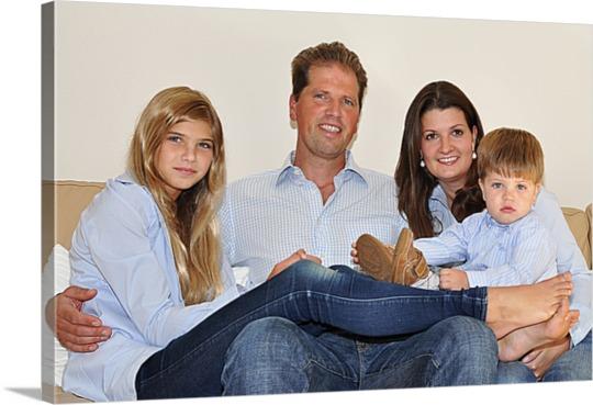 Familienfoto auf Leinwand
