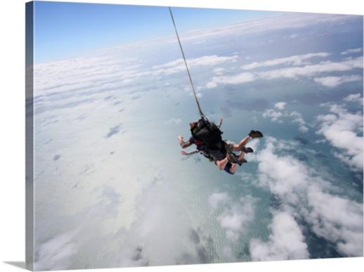 Fallschirmsprung Fotoleinwand